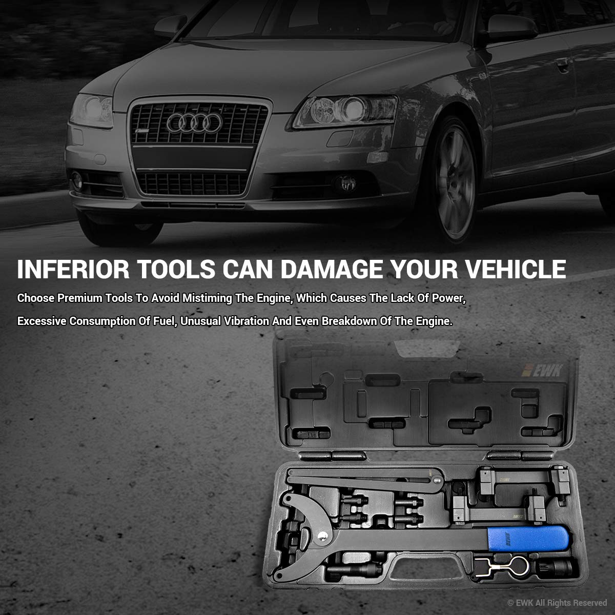 EWK Timing Tool Kit FSI Chain Engine for Audi A4 A6 A8 3.2 Liter V6 by EWK (Image #4)
