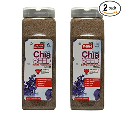 Badia Terreno Chia semillas 16 oz (Pack de 2): Amazon.com ...