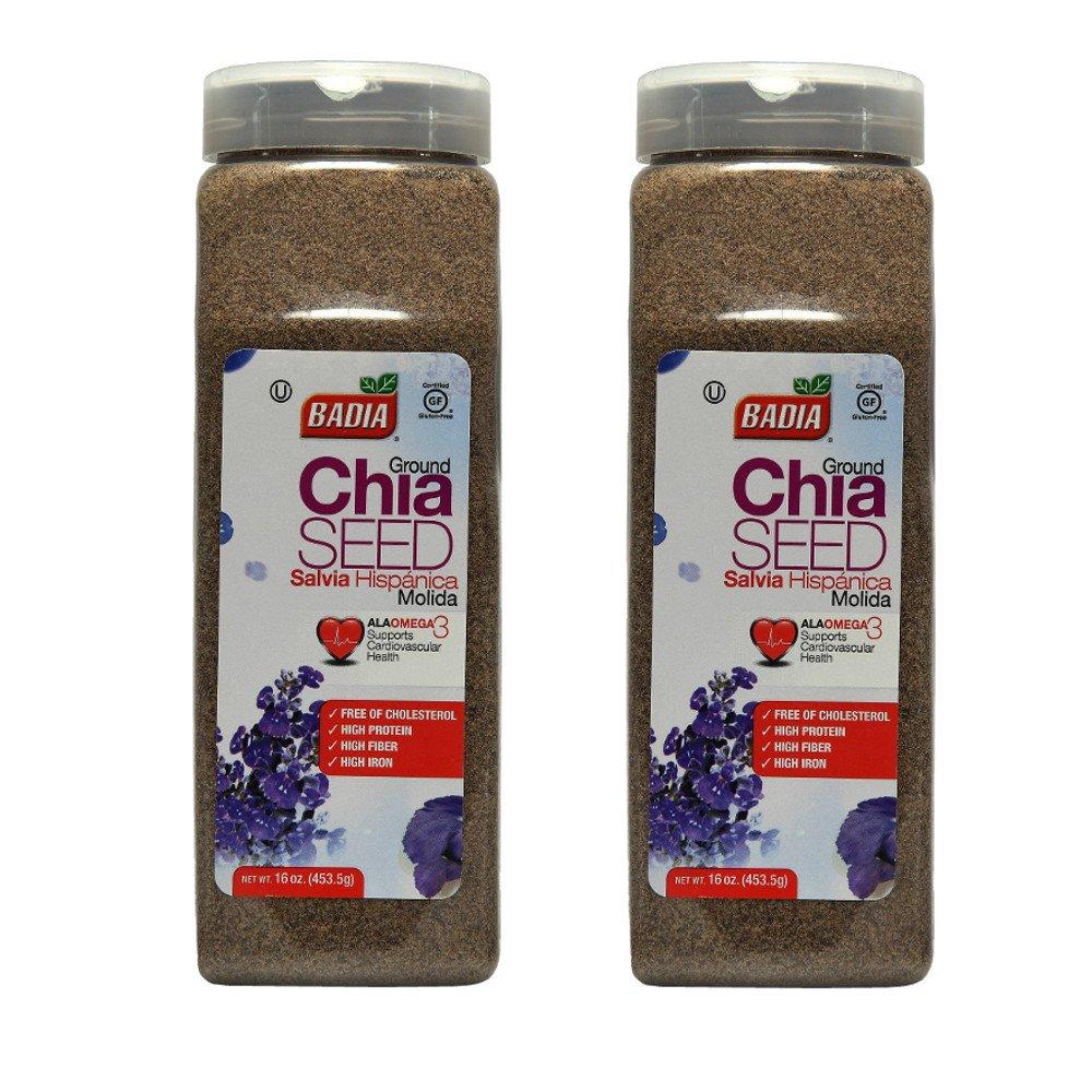 Badia Ground Chia Seed 16 oz (Pack of 2)