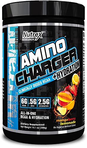 Nutrex Research Amino Charger Plus Hydration, Mango Berry Lemonade, 14.1 Ounce