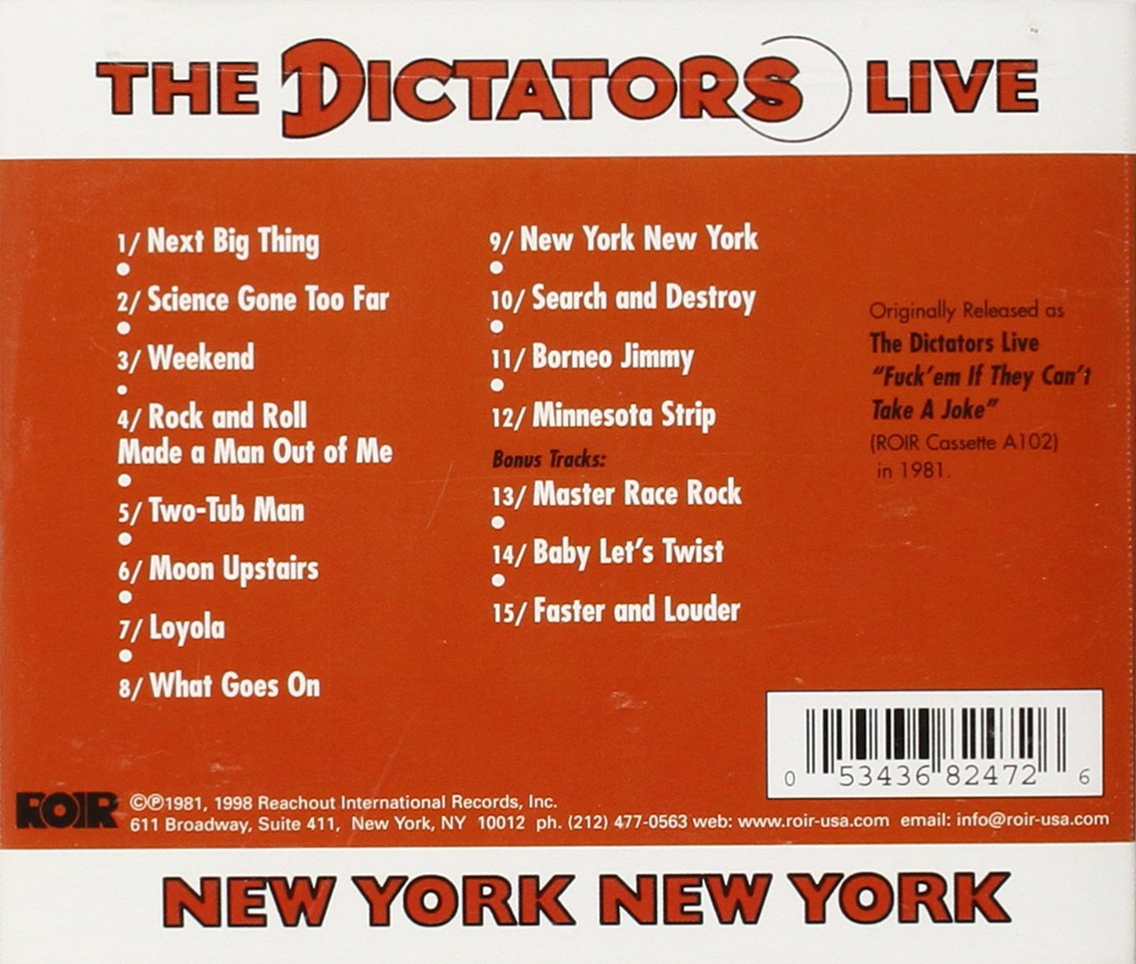 Live New York New York