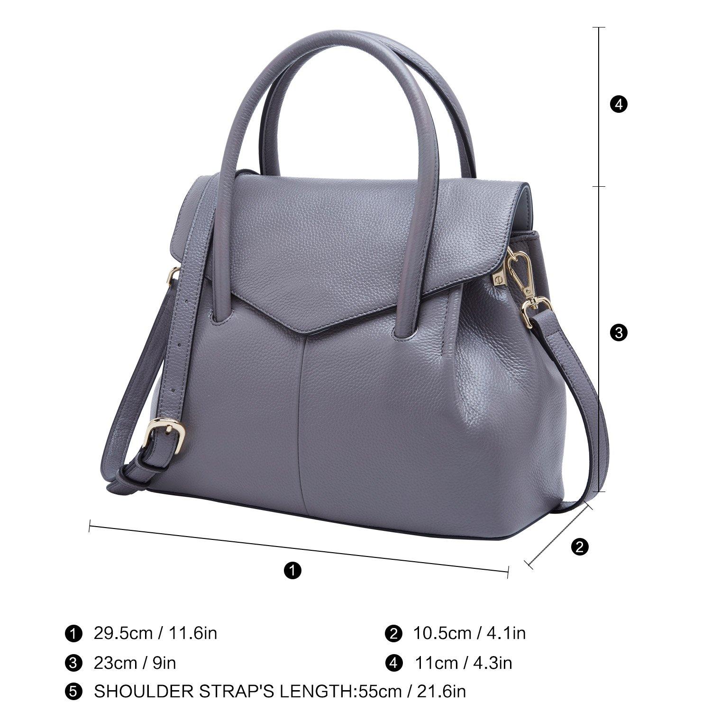 e071de9d46af BOYATU Genuine Leather Handbags for Women Business Satchel Ladies Purse Top  Handle Bag 73935
