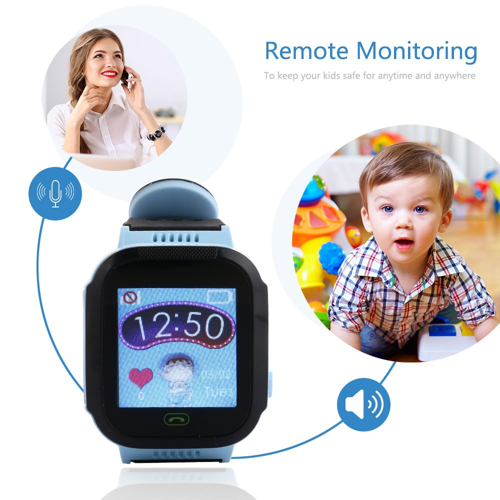 Smart Watch for Kids, LBS Monitor Locator Watch Phone Two-way Call Activity Tracker With  Electronic Fence SOS Safe Anti-Lost Location Device Tracker for Kids Safe by TKSTAR (Image #3)
