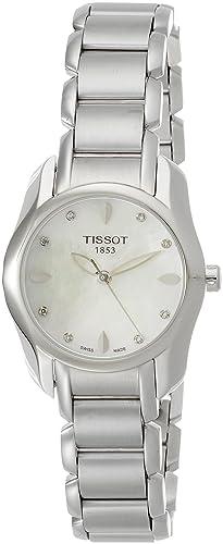 Tissot Reloj Analógico para Mujer de Cuarzo con Correa en Acero Inoxidable T023.210.11.116.00: Amazon.es: Relojes