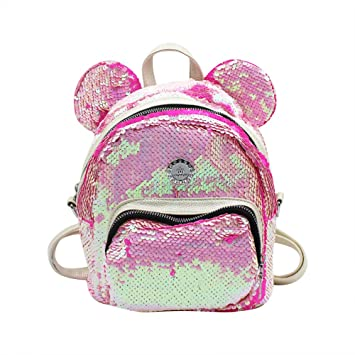 67a86ef7f2ff Amazon.com | Eilova Bling Sequins Backpack Mini girls Shoulder Bag ...