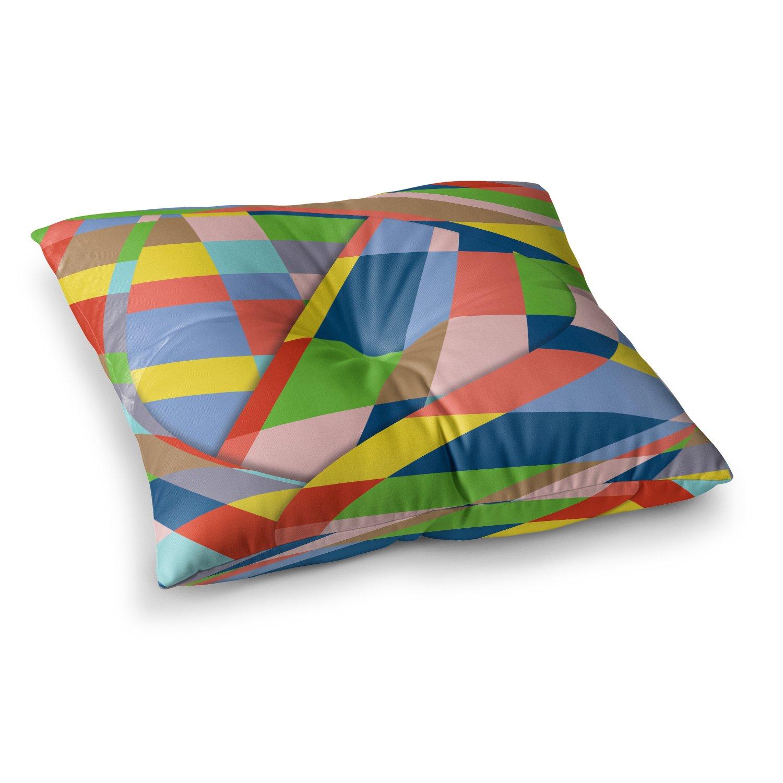 Kess InHouse Bruce Stanfield Layers #19 Pastel Multicolor Digital 23 x 23 Square Floor Pillow