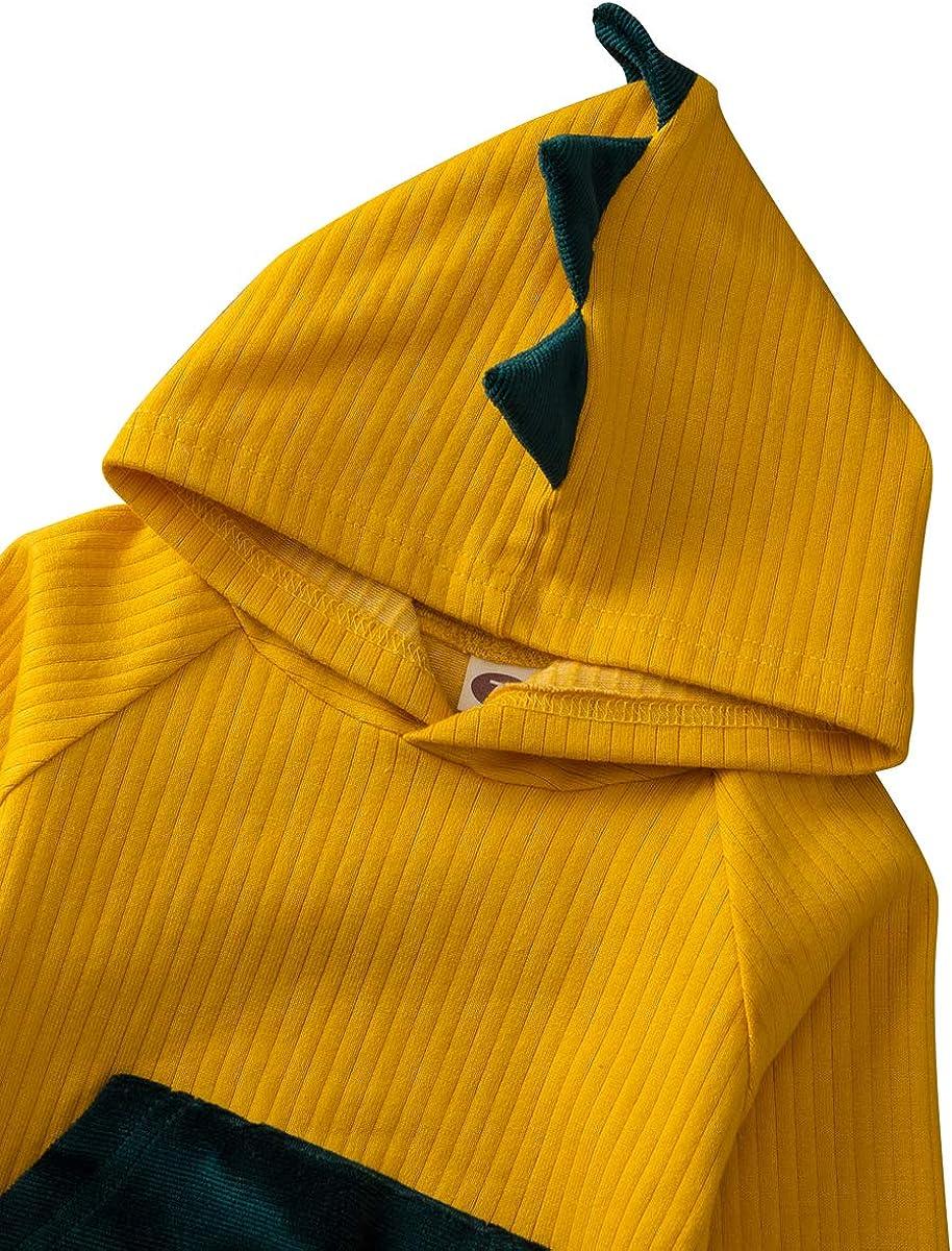 Kleinkind Baby Junge Hoodie Kleidungsset Casual Dinosaurier Druck Langarm M/ädchen Pullover Lange Hose 2 Bilder f/ür Herbst Winter Outfit Set