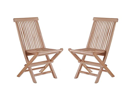SAM - Sillas plegables (2 unidades, madera de teca): Amazon ...