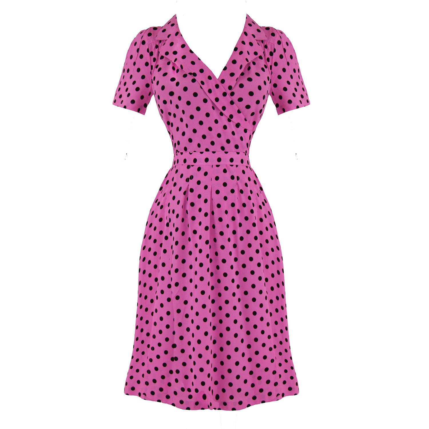 The Seamstress Of Bloomsbury Peggy Vintage 40s WW2 Designer Tea Wrap Dress Excellent Quality