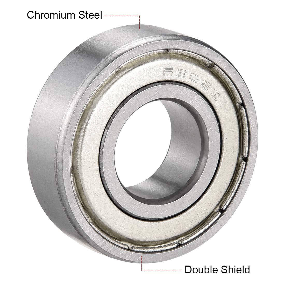 sourcing map 694ZZ Deep Groove Ball Bearings Z2 4mm X 11mm X 4mm Double Shielded Carbon Steel 2pcs