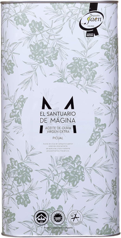 Lata 5 litros de Aceite de Oliva Virgen Extra El Santuario de Magina con Denominación de Origen Protegida Sierra Magina, AOVE, Verde, molturado en frío. Variedad Picual