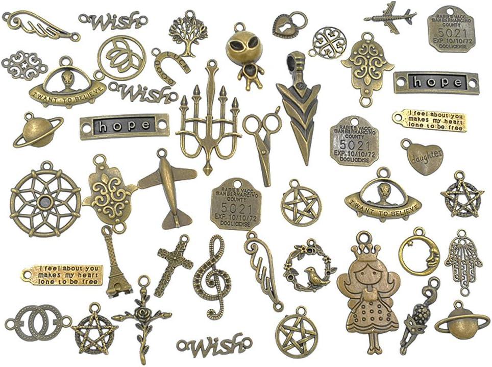 10 Bronze Leaf  Charms Pendant Steampunk