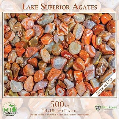 Lake Superior Agates - 500 Piece MI Puzzles Jigsaw Puzzle: Toys & Games