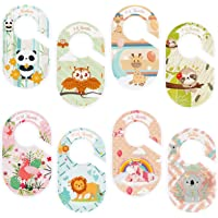 Baby Closet Dividers for Baby Clothes - Set of 8 Double Side Baby Closet Size Dividers Special Closet Organizer/Hangers…