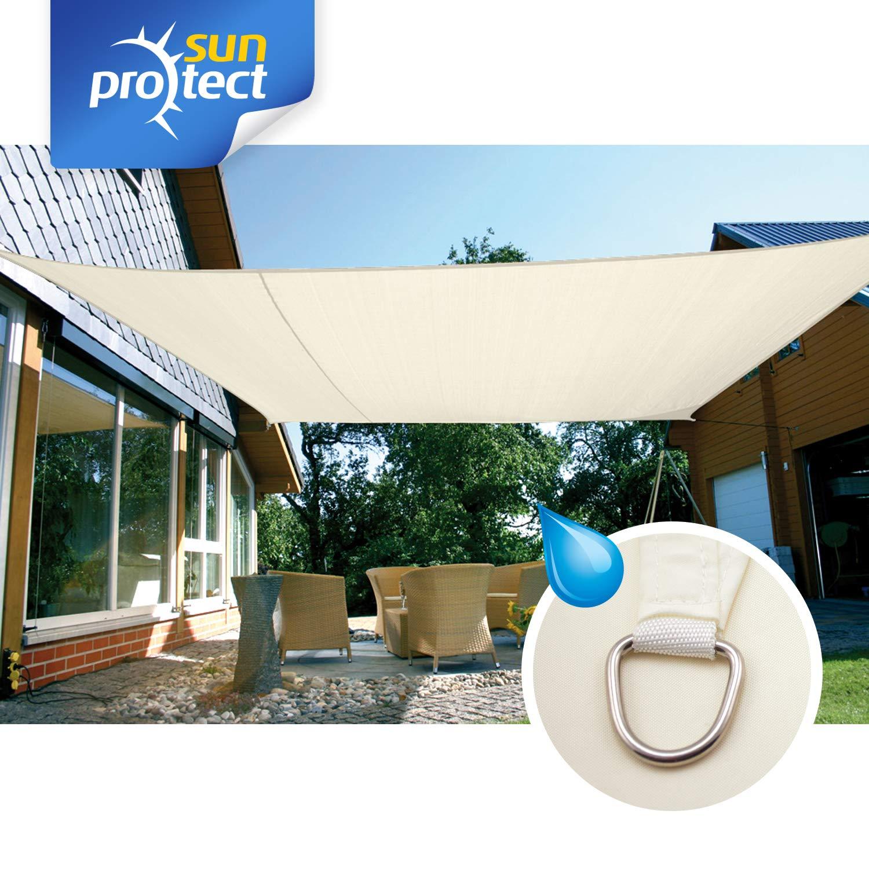 sunprotect 83246 Waterproof Toldo / Vela de Sombra, 6 x 4 m, rectangular, crema: Amazon.es: Jardín