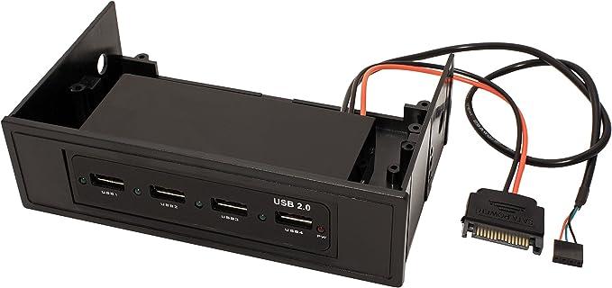 4 Porte USB 2.0 Value 14.99.5031 Frontalino Hub Interno per Alloggiamenti 3.5//5.25