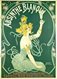 Vintage Beers, Wines and Spirits ABSINTHE BLANQUI, France, circa 1900's. 250gsm Gloss Art Card A3 Reproduction Poster