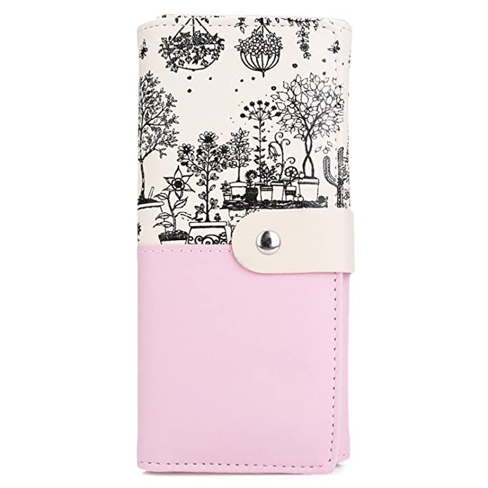 Amazon.com: KEBINAI Women Gift Clutch Wallet PU Leather ...