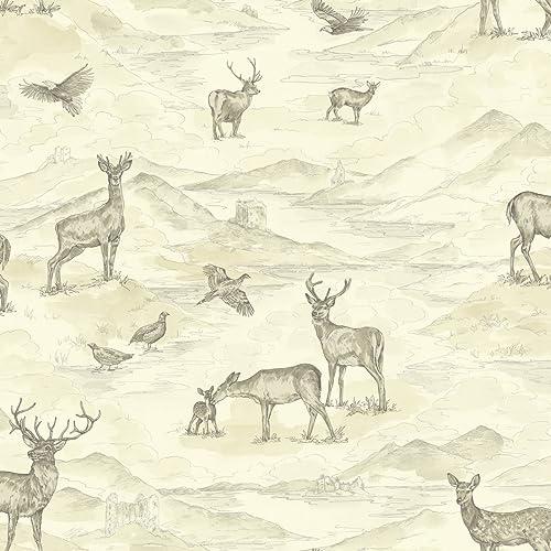 Arthouse 256300 Bancroft Wallpaper Cream 53 Cm X 1005 M
