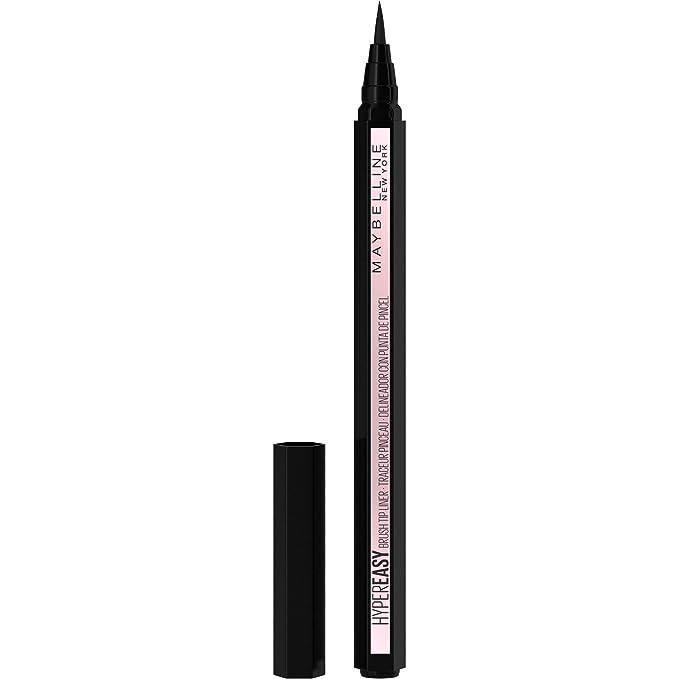 MAYBELLINE Hyper Easy Liquid Pen No-Skip Eyeliner, Satin Finish, Waterproof Formula, Eye Liner Makeup, Pitch Black, 0.018 Fl; Oz   Amazon