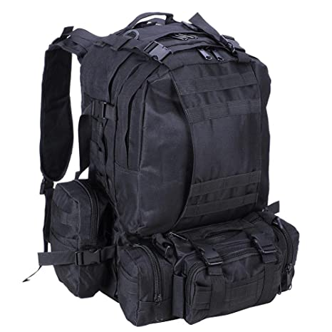 92f70a5db Kenny Walker Outdoors Tactical Military Molle Assault Nylon 55L Waterproof Backpack  Camo Multicolor for Camping Hiking