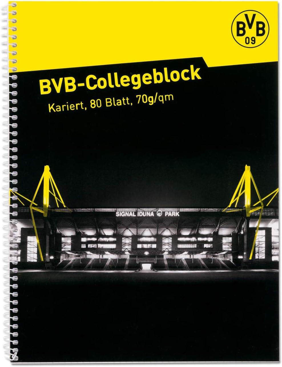 L Schreibblock Notizblock Ringbuch BVB 09 Borussia Dortmund Collegeblock Signal Iduna Park