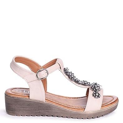Linzi Damen Sandalen Beige Beige, Beige - Beige - Größe: 35.5