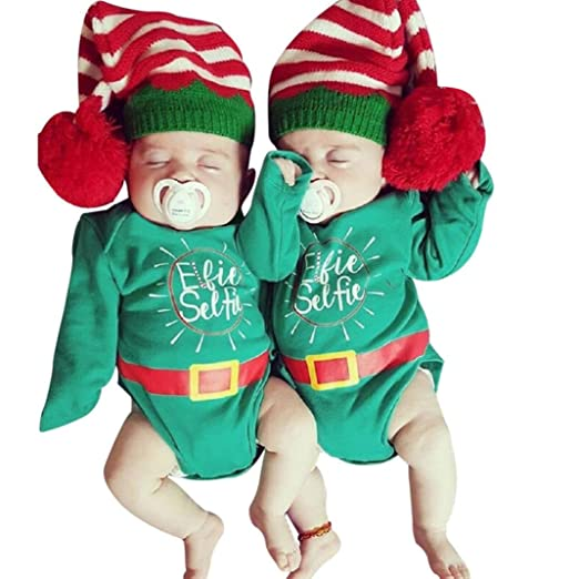 Iuhan Christmas Newborn Infant Baby Girls Boys Letter Cute Romper Outfits  Clothes (3 months old - Amazon.com: Iuhan Christmas Newborn Infant Baby Girls Boys Letter