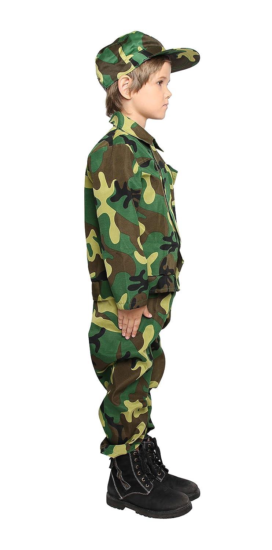 Amazon.com: Disfraz de camuflaje para niños, uniforme ...