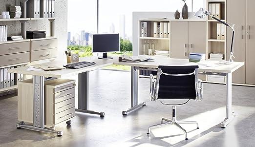 POSSEIK escritorio combinación de arena de madera de fresno con ...