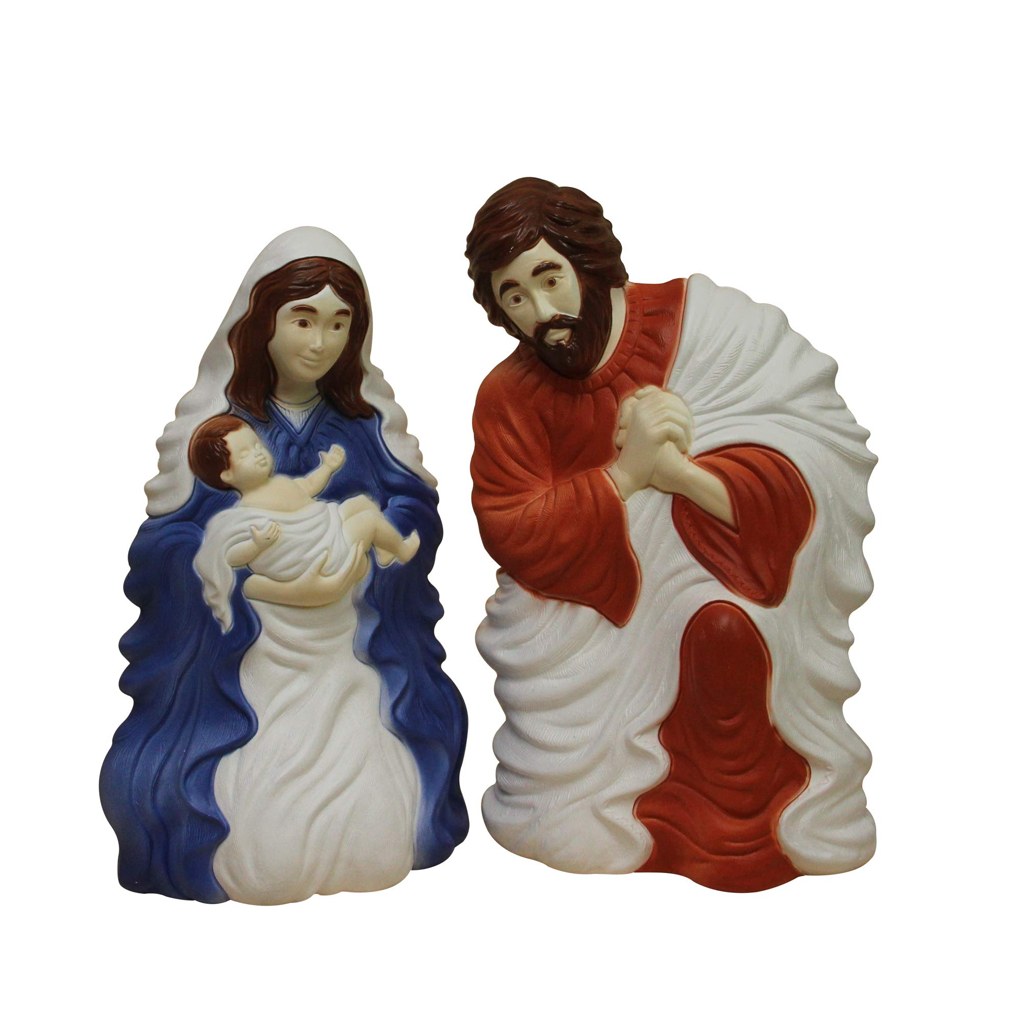 CC Christmas Decor 26.5'' Outdoor Holy Family Lighted Nativity Set