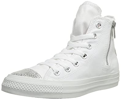 promo code ddc68 f64c9 Converse Chuck Taylor All Star Sparkle Hi, Baskets mode femme - Blanc (Blanc  Argent