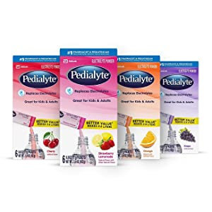 Pedialyte Electrolyte Powder, Variety Pack Flavor Bundle, Electrolyte Drink,0.6 Ounce Powder Packets (Pack of 24)