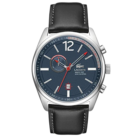Image Unavailable. Image not available for. Color  Lacoste Austin  Chronograph Leather - Black Men s watch  2010729 5a5feaae78e
