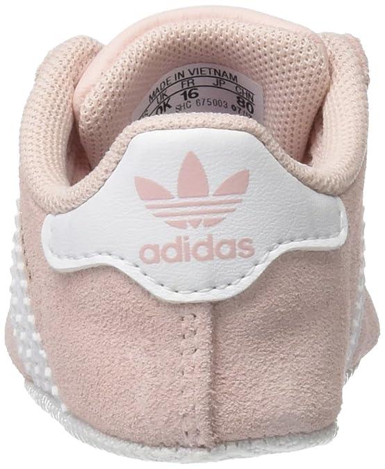adidas Unisex Kids' Gazelle Crib Fitness Shoes, (Icey Pink