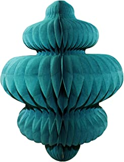 product image for 3-Pack 10 Inch Honeycomb Tissue Paper Hanging Chandelier Decoration (Teal Green)