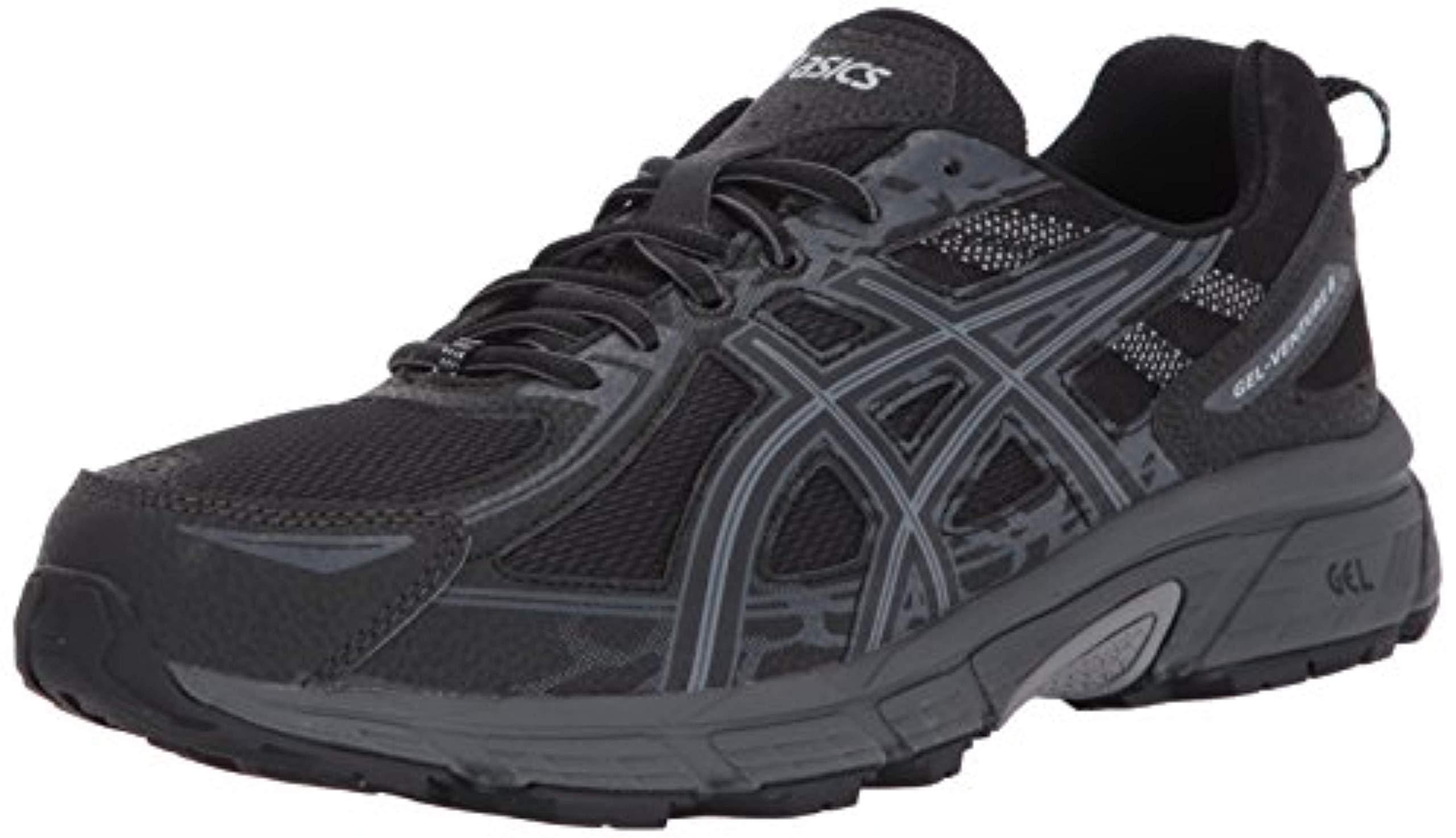 ASICS Mens Gel-Venture 6 Running Shoe, Black/Phantom/Mid Grey, 7