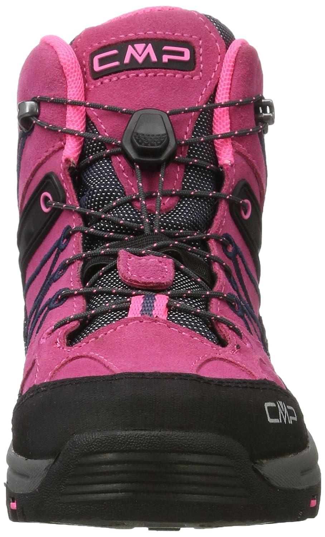 CMP Campagnolo Unisex-Erwachsene Rigel Trekking-& Wanderstiefel, Pink (Pink Fluo-Asphalt), 35 EU