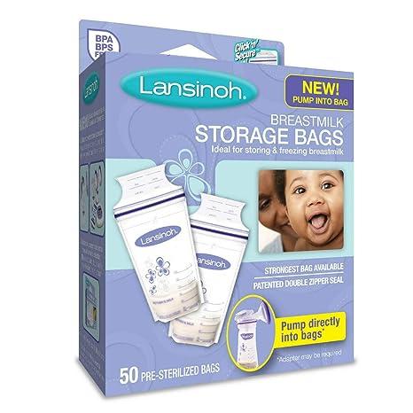 2 Pack Lansinoh Breastmilk Storage Bags 200 Total