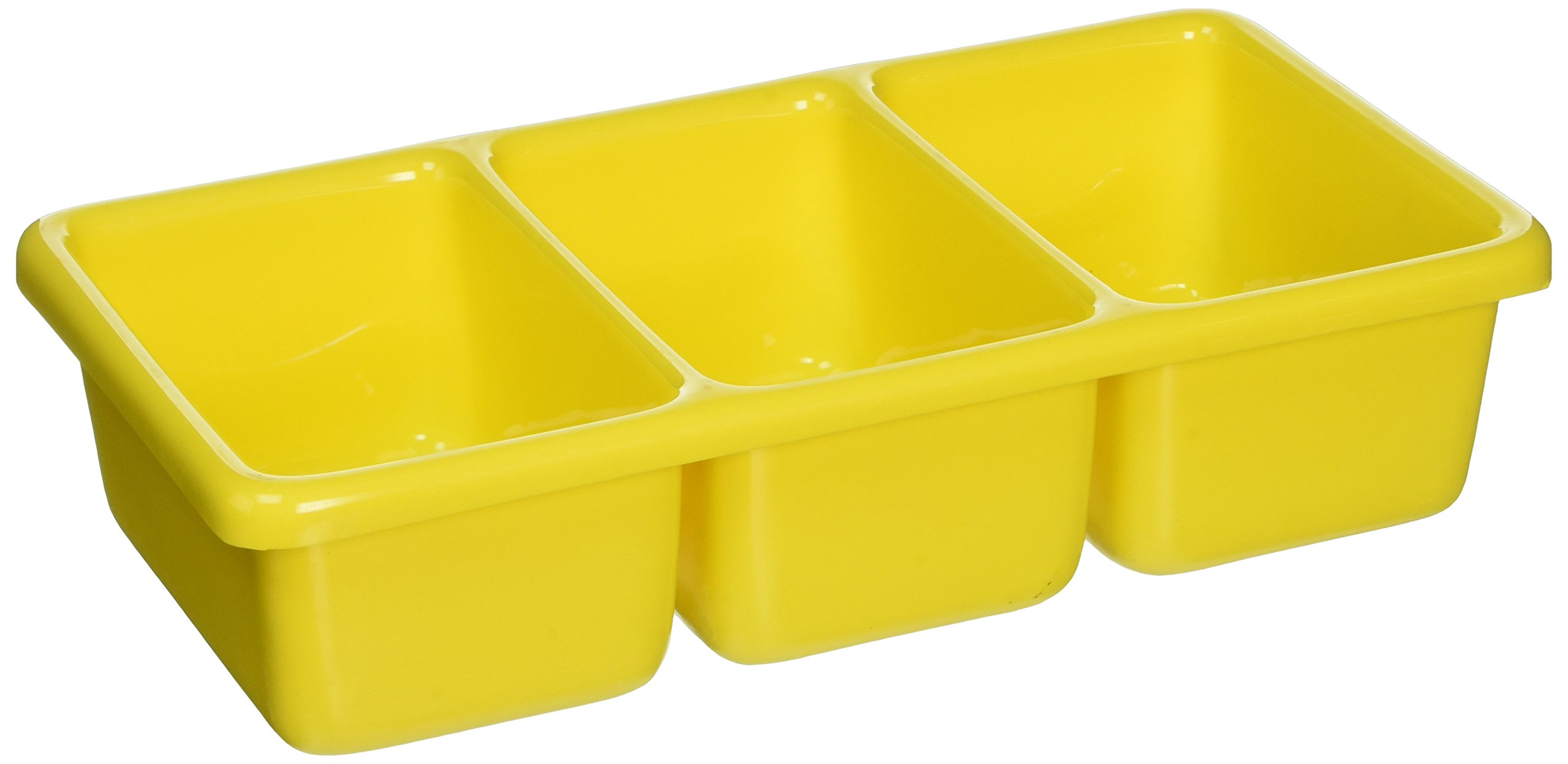 Shirley K'S Storage Trays PT152-Yellow Compartment Tray, 3-Place, Yellow