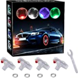 Akardo Car Tire Wheel Lights, 4Pcs Car Wheel Tire Air Valve, Hub Lamp Cap Light with Motion Sensors Colorful LED Tire…
