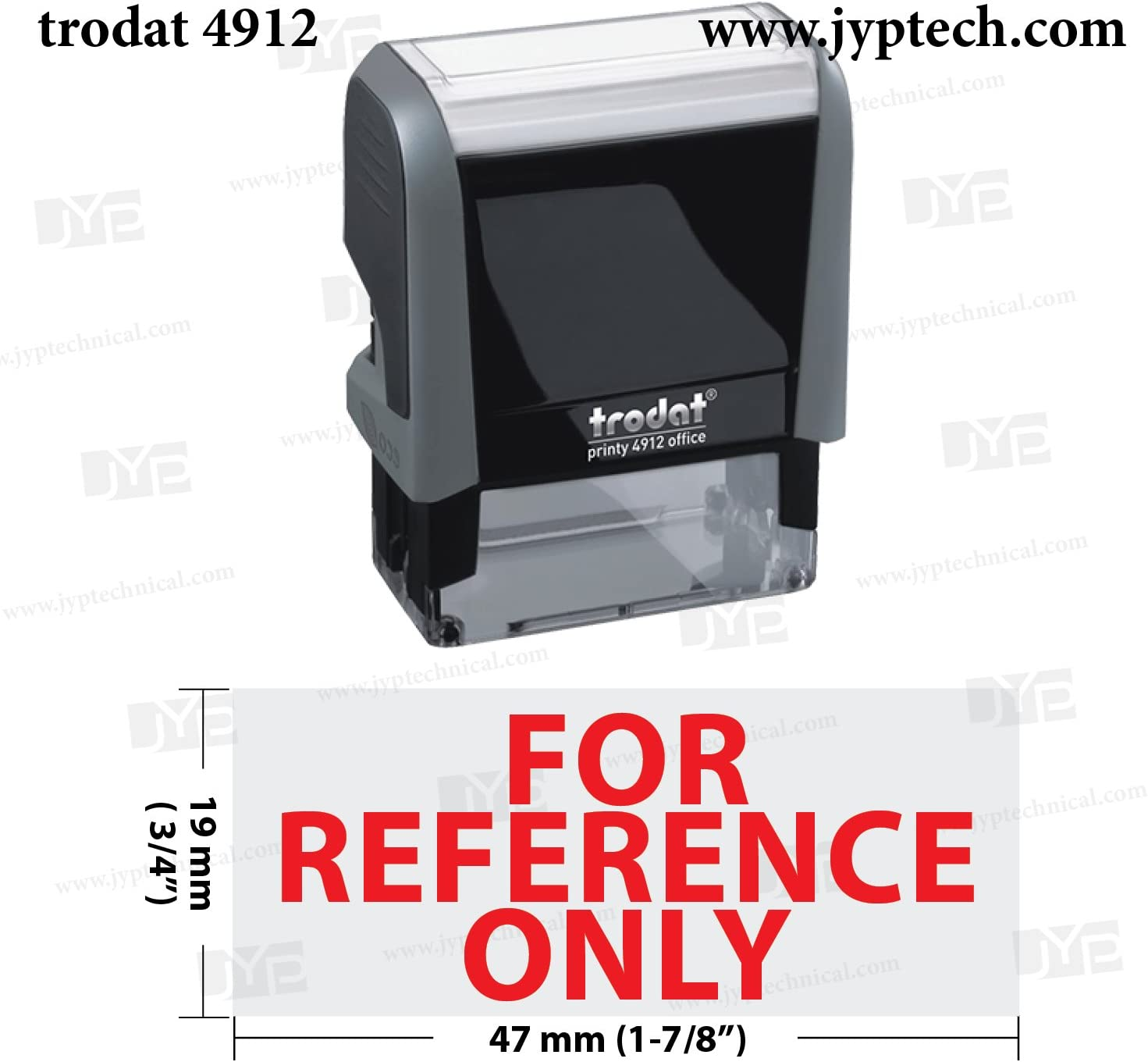 Non-Machinable New Trodat 4912 Self Inking Rubber Stamp w