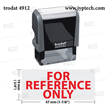 New Trodat 4912 Self Inking Rubber Stamp W For Reference Only