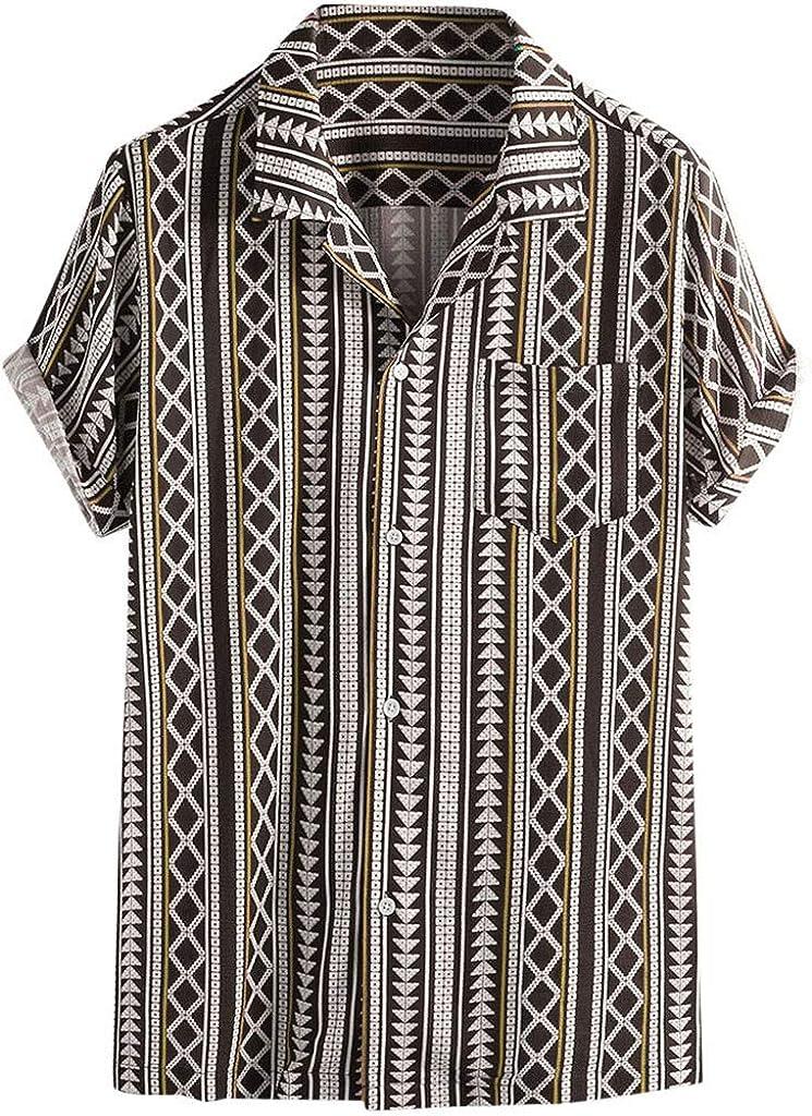 SOOTOP Men Tropical Hawaiian Shirt Top Short Sleeve Button Down Floral Print Party Casual