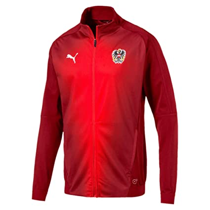 4463bb3f279 Image Unavailable. Image not available for. Color  PUMA 2018-2019 Austria  Stadium Jacket ...
