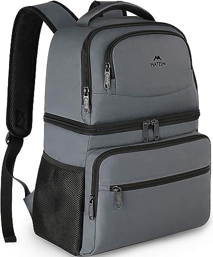 Insulated Backpack Cooler Bag Men Women Leakproof Fabric Lightweight Camping Bag