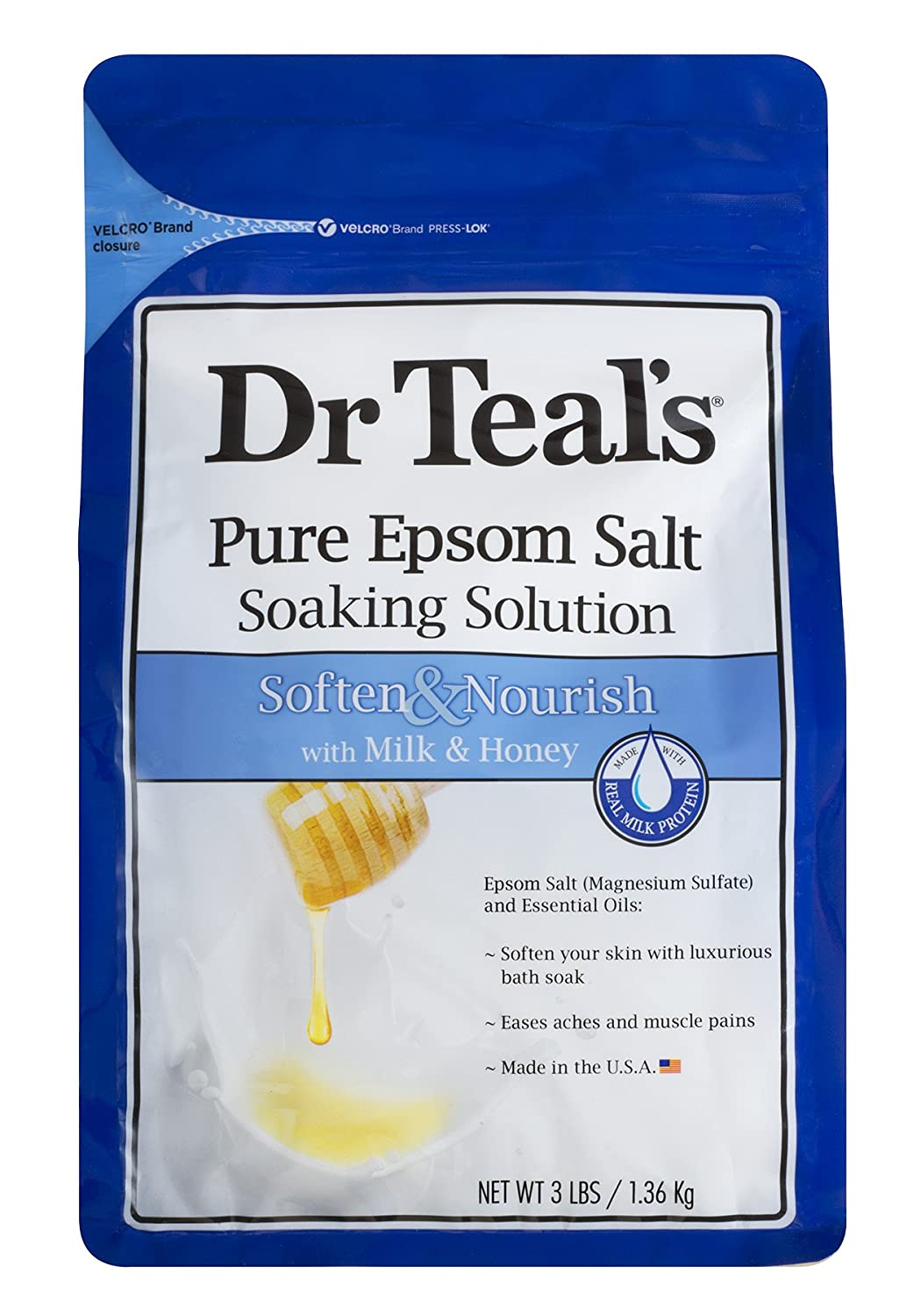 Amazon.com : Dr Teal\'s Epsom Salt Soaking Solution, Chamomile, 48 ...