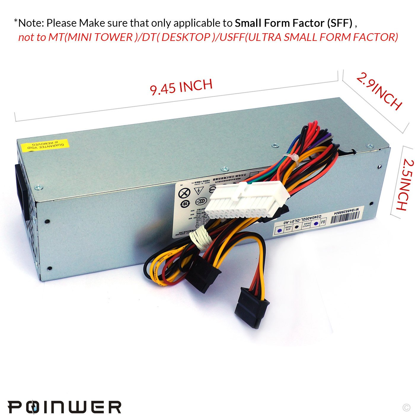 POINWER 3WN11 H240AS-00 709MT 240W Optiplex 7010 SFF Power Supply For Dell Optiplex 390 790 990 3010 9010 Small Form Factor Systems CCCVC 3RK5T 2TXYM F79TD L240AS-00 H240ES-00 D240ES-00 AC240AS-00 by POINWER (Image #2)