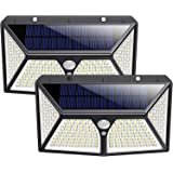 Solar Lights Outdoor,180 LEDs Wireless Motion Sensor Light 3 Modes Security Lighting Wall Lights,IP65 Waterproof Easy-to-Inst