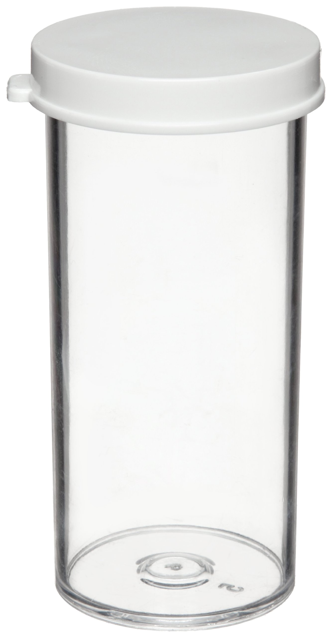 Dynalon 426364-03 Polystyrene Specimen and Sample Container with Polyethylene Snap Cap, 3 Dram Capacity (Case of 144)